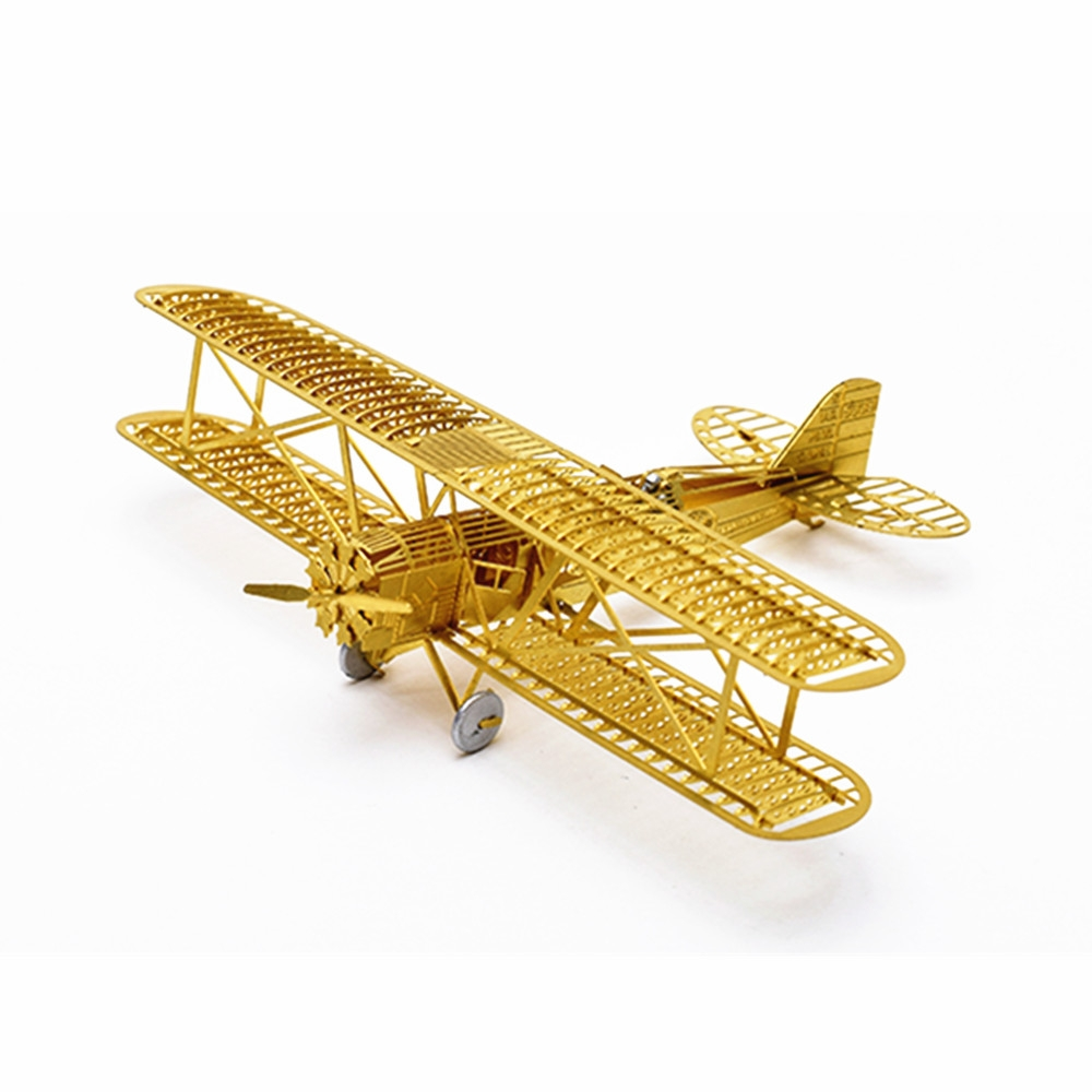 1/160 Boeing 40 3D DIY Brass Etched Model Kit RC Airplane Metal Puzzle Miniature Toy Adult Hobby