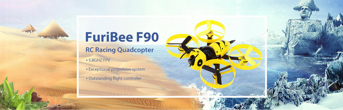 FuriBee F90 90mm Wasp FPV Racing Drone DIY Frame Kit - discounts
