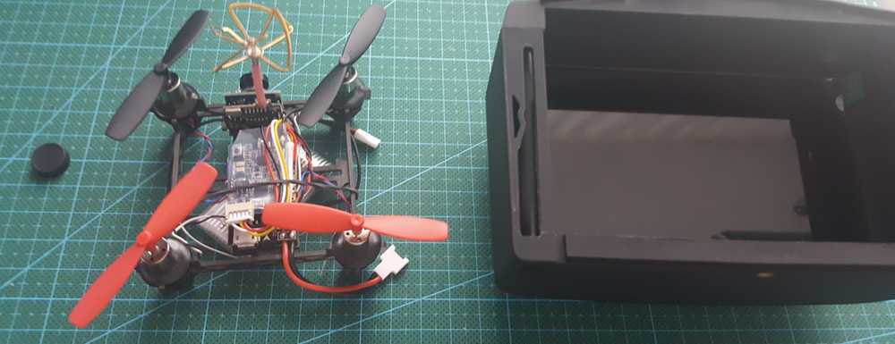 QX80 micro quadcopter with 25mw VTX - lots of fun (solder and bind XSR receiver)
