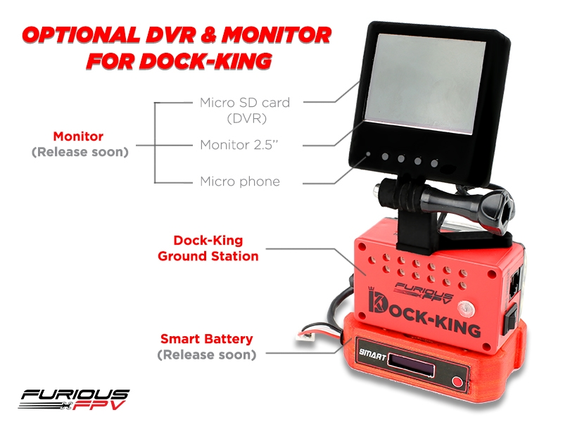 FuriousFPV Dock-King ground station with TrueD vs RapidFire