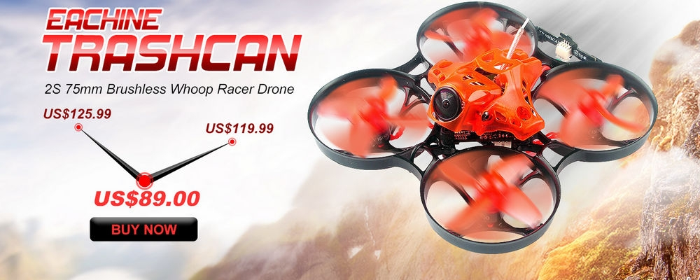 Eachine TRASHCAN 75mm Crazybee F4 PRO OSD 2S Whoop for outdoor