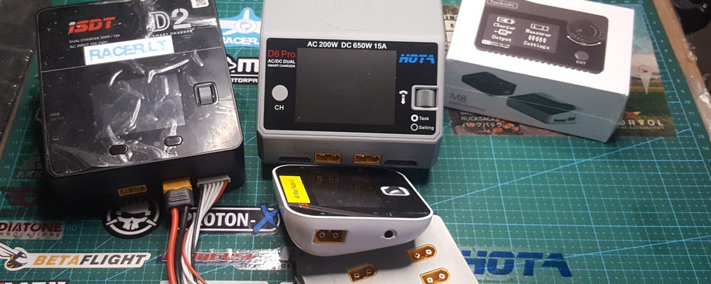 4 battery balance chargers for drone racer of 2019